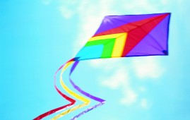 A Colorful Kite in the March sky