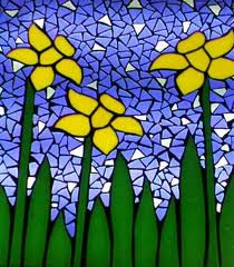 Daffodils in Stained Glass