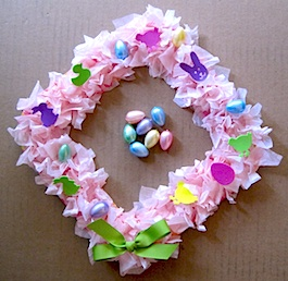 Easter Wreath from Crafty Journal