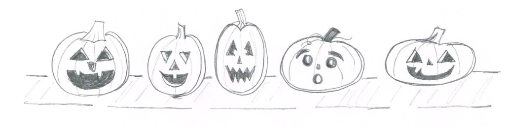 Five Little Pumpkins Illustration